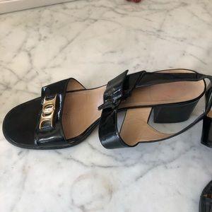 Feragamo Sandals Patent Leather 8.5